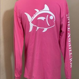 Southern tide long sleeve T-shirt pink